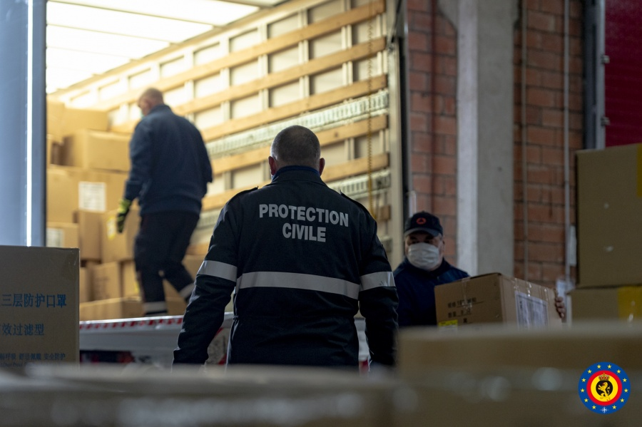 La protection civile prend en charge le transport de 5.000.000 masques