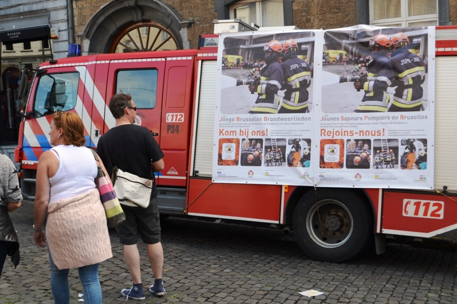 Le service d'incendie de Bruxelles recrute des jeunes sapeurs-pompiers