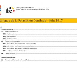 Nouveau catalogue de formation continue – Juin 2017